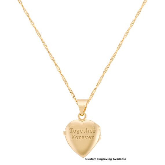 "Heart Locket in 14k Yellow Gold (18"")"