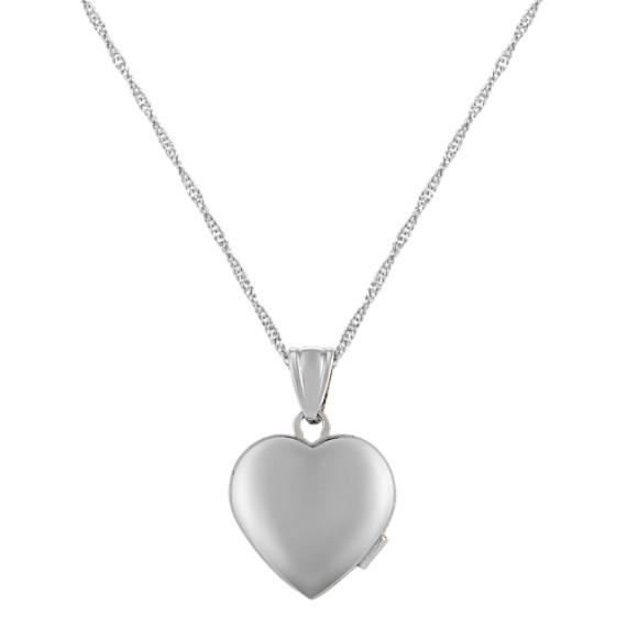 Heart Locket in Sterling Silver (18)