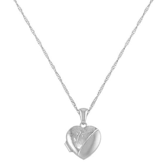 Heart Locket in Sterling Silver (18)