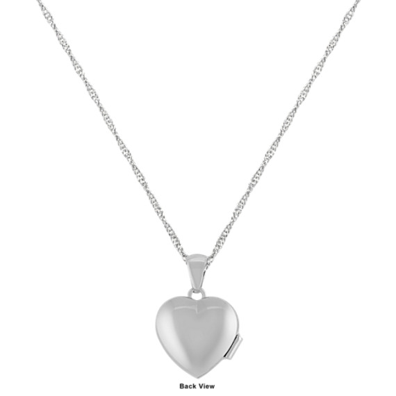 "Heart Locket in Sterling Silver (18"")"