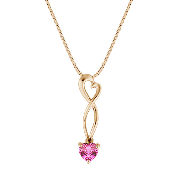 Heart Shaped Pink Sapphire Heart Pendant (18)