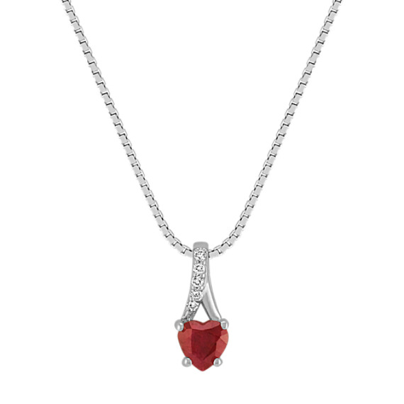 Heart Shaped Ruby and Diamond Pendant (18)