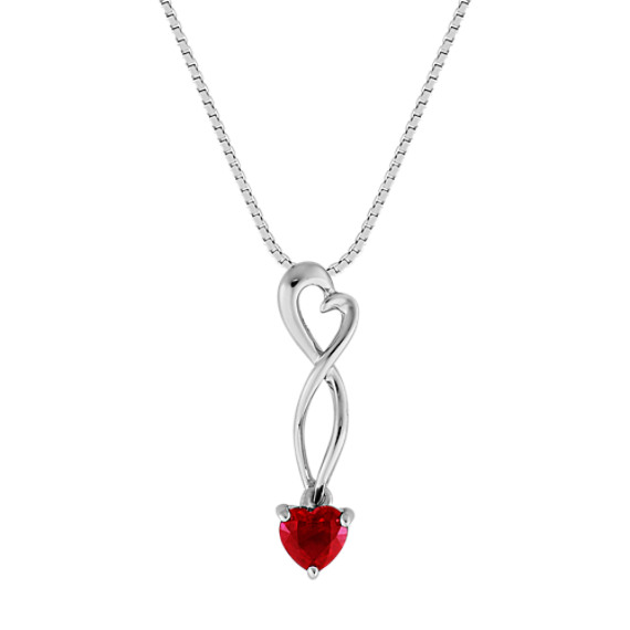 Heart-Shaped Ruby Heart Pendant (18)