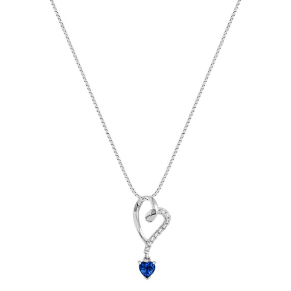 Heart-Shaped Sapphire and Diamond Heart Pendant (18)