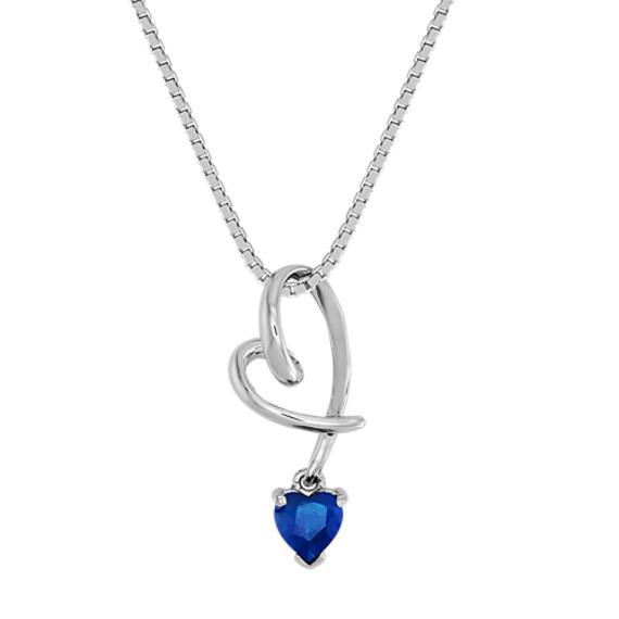 Heart-Shaped Sapphire Heart Pendant (18)