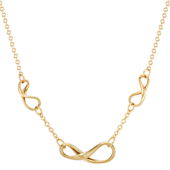 Infinity Necklace in 14k Yellow Gold (18)