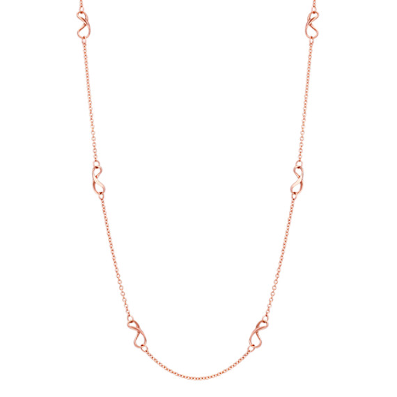 Infinity Necklace in Rose Gold (35.5)