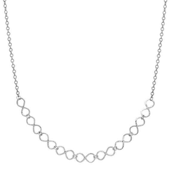 """Infinity Sterling Silver Necklace (18"""")"""