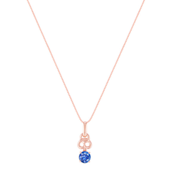 Kentucky Blue Sapphire Pendant in Rose Gold (18)
