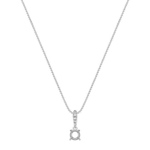 Lined Round Diamond Pendant (18)