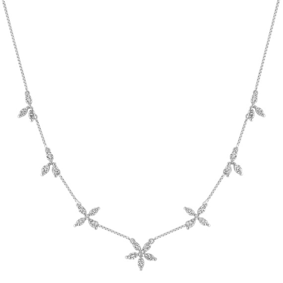 "Marquise Diamond Necklace (18"")"