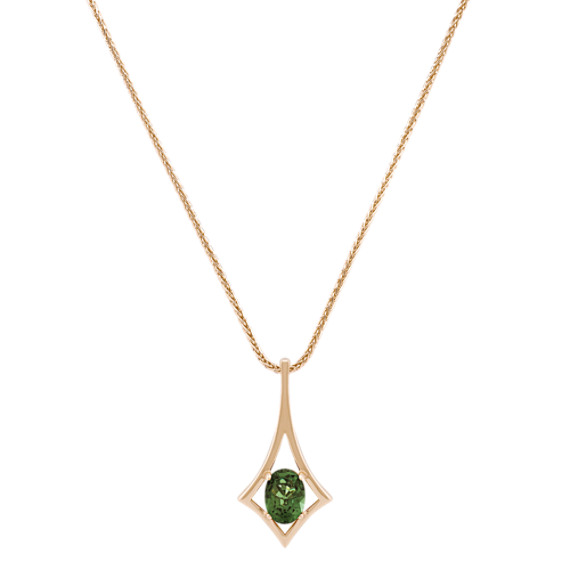 Oval Green Sapphire Pendant (18)