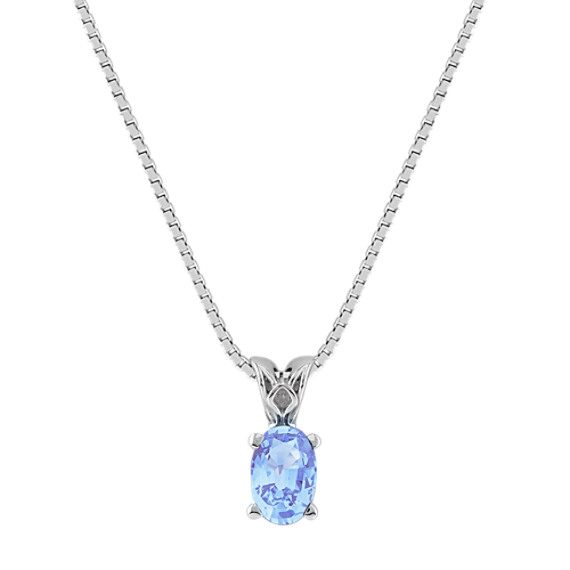 Oval Ice Blue Sapphire Pendant (18)