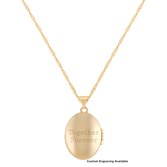 "Oval Locket in 14k Yellow Gold (18"")"