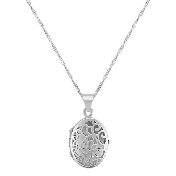 Oval Locket in Sterling Silver (18)