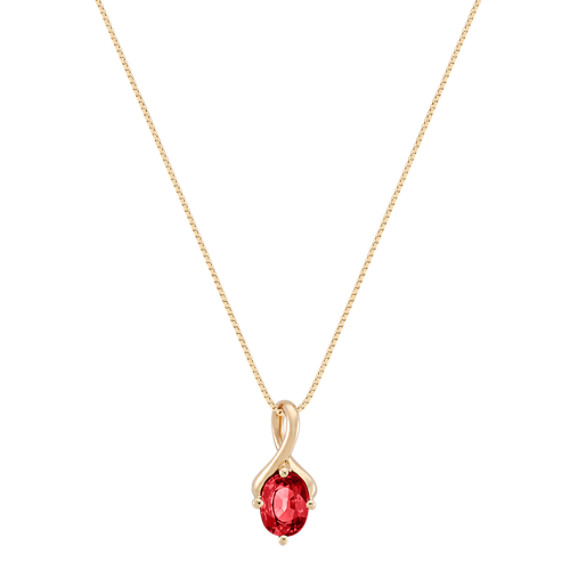 "Oval Ruby Pendant (18"")"