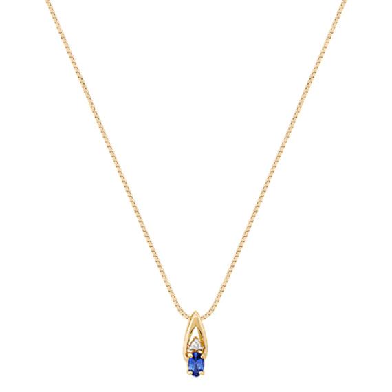 Oval Sapphire and Diamond Pendant (18)