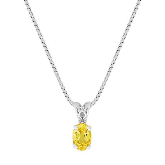 Oval Yellow Sapphire Pendant (18)