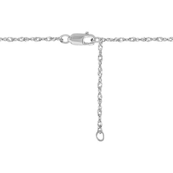 Pear Shaped Cabochon Sapphire and Diamond Pendant (18)
