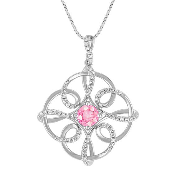 Pink Sapphire and Diamond Pendant (18)