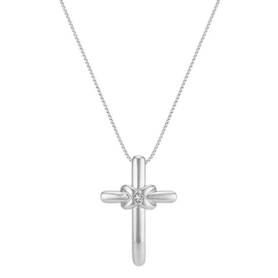 Princess Cut Diamond Cross Pendant (18)