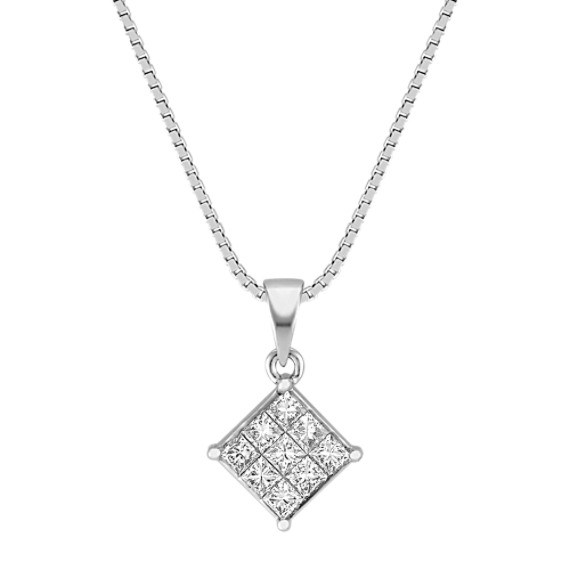 Princess Cut Diamond Pendant (18)