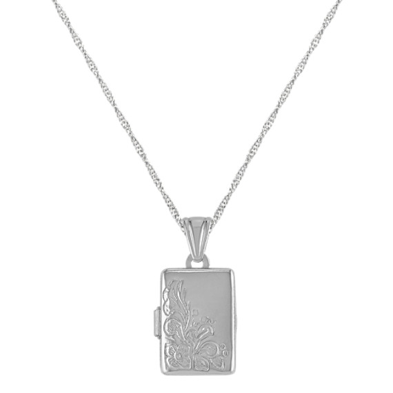 Rectangle Locket in Sterling Silver (18)