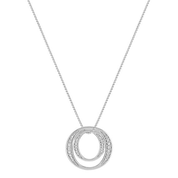 Round Diamond Circle Pendant (18)