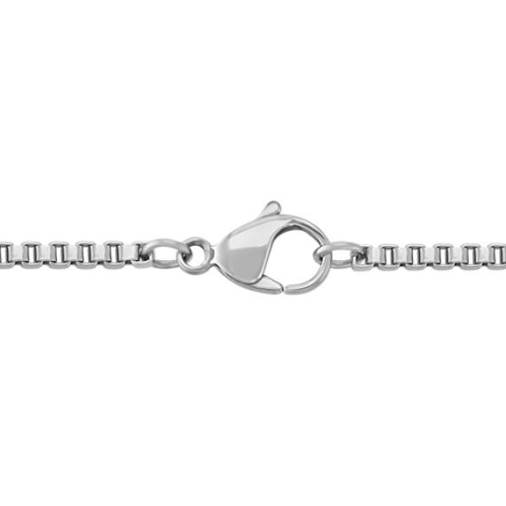 Round Diamond Cross Necklace ( 22'')