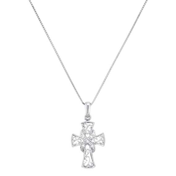 Round Diamond Cross Pendant (18)