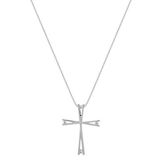 Round Diamond Cross Pendant (18)
