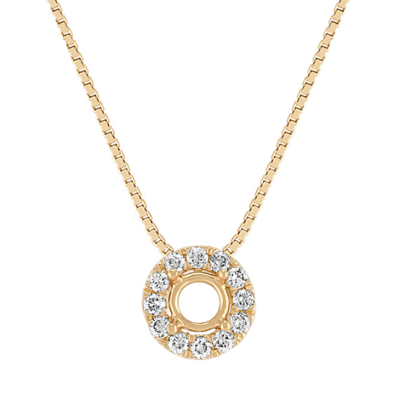 Round Diamond Halo Pendant (18)