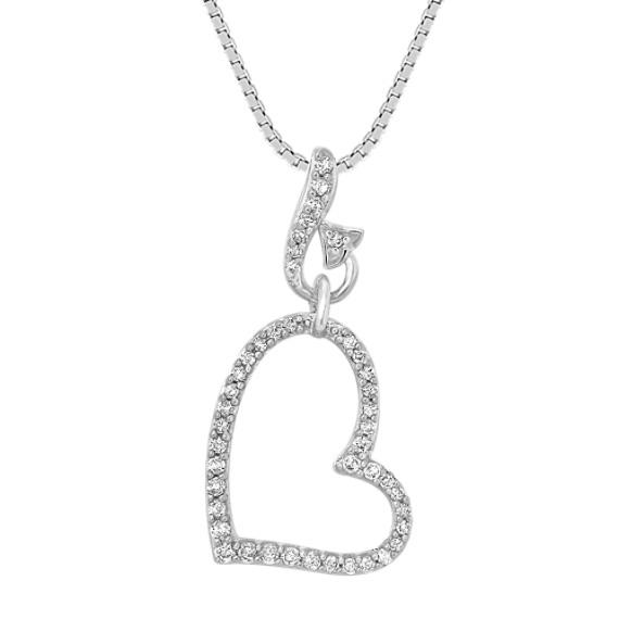 Round Diamond Heart Pendant (18)