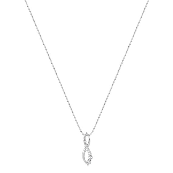 "Round Diamond Journey Pendant (18"")"