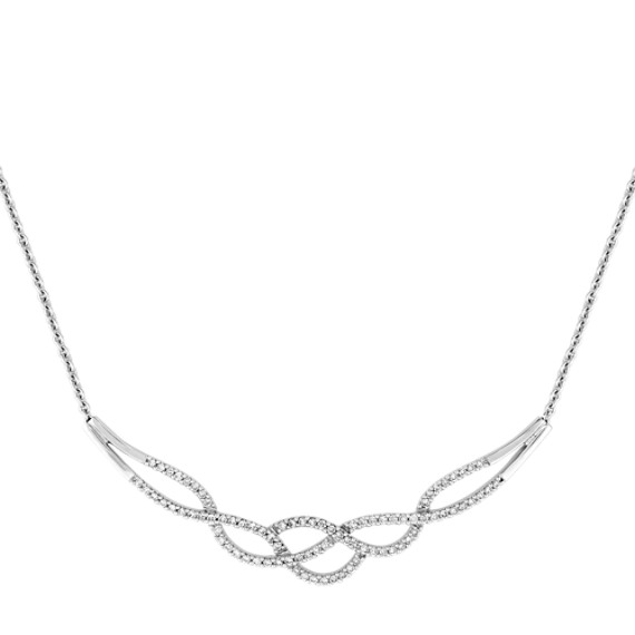 "Round Diamond Necklace (18"")"