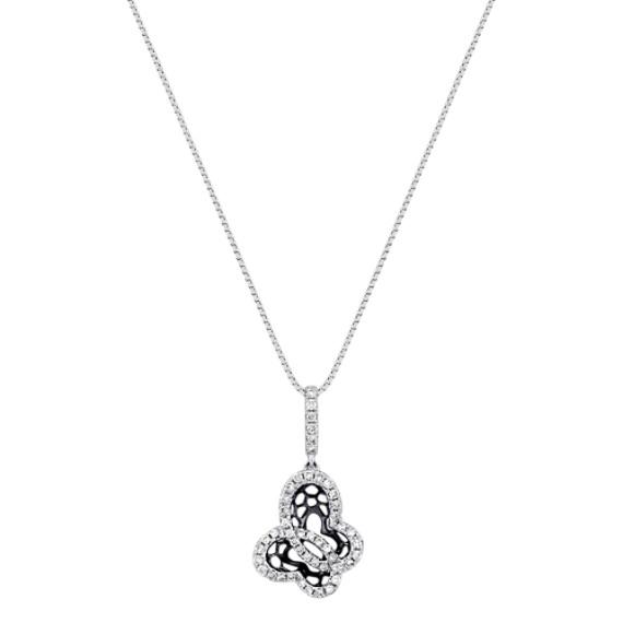 "Round Diamond Pendant (18"")"