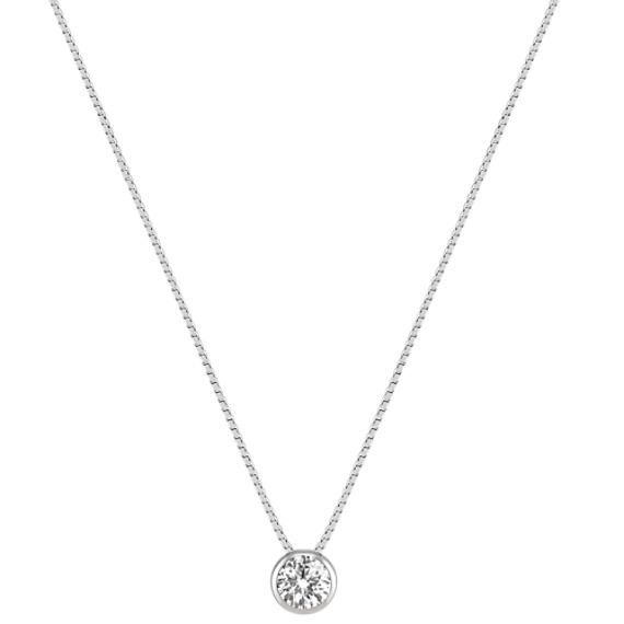 "Round Diamond Pendant (20"")"