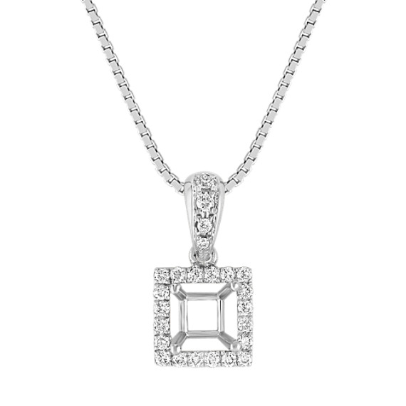 Round Diamond Square Pendant (18)