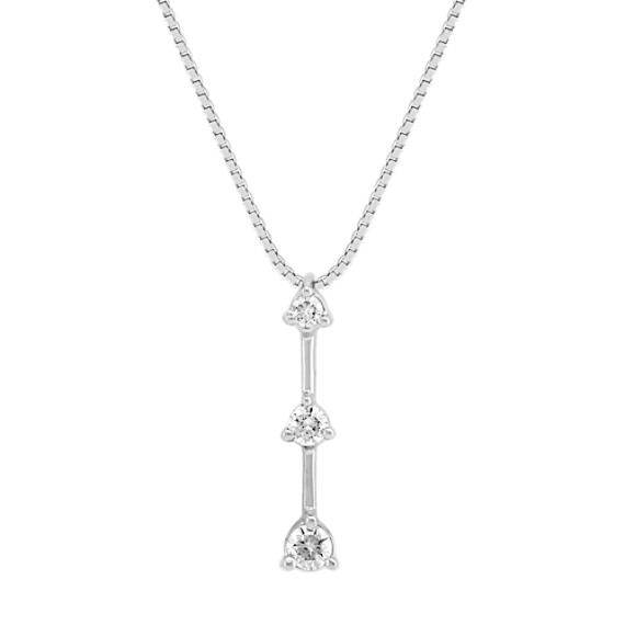 "Round Diamond Three-Stone Pendant (18"")"