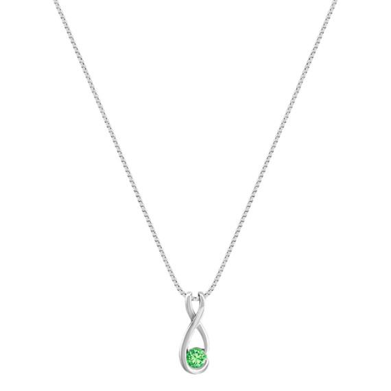 Round Green Sapphire Pendant (18)