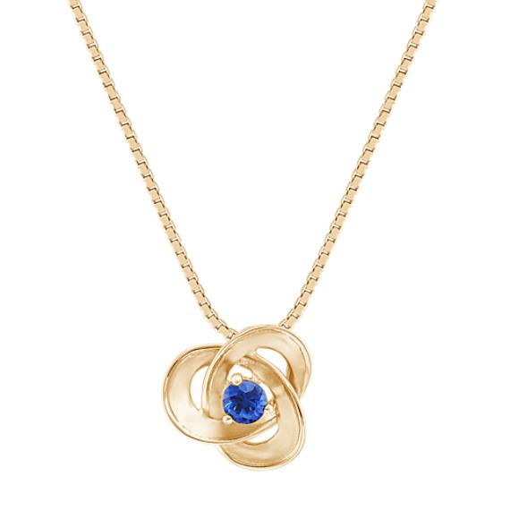 Round Sapphire Pendant (18)