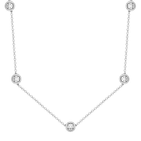 Round White Sapphire Necklace (16)