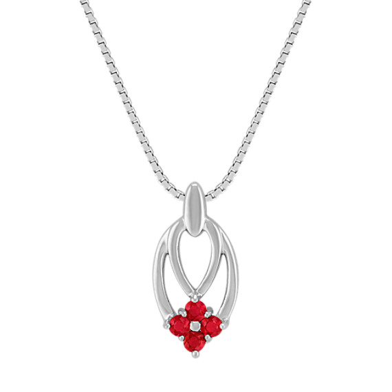 Ruby Cluster Pendant (18)