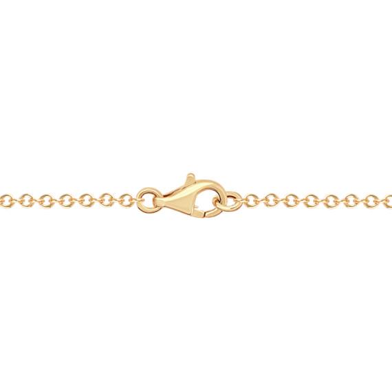 "Sliding Ball Pendant in 14k Yellow Gold (18"")"