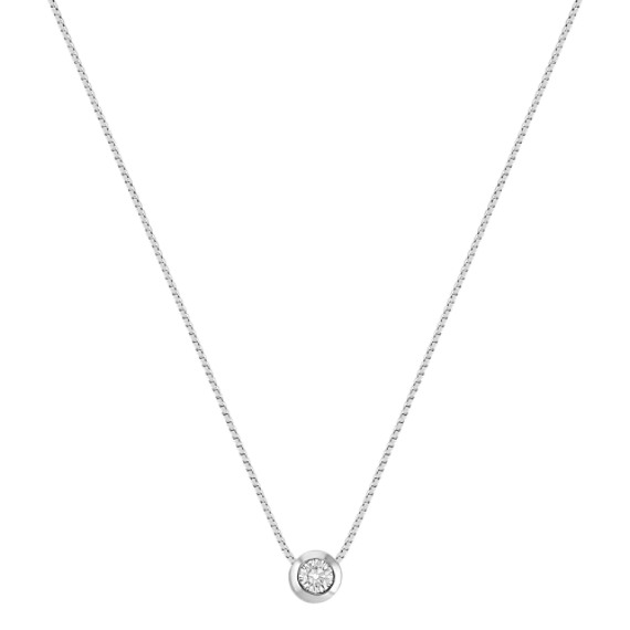 "Solitaire Diamond Pendant (18"")"