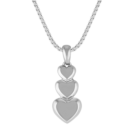 Stackable Heart Pendant in Sterling Silver (18)