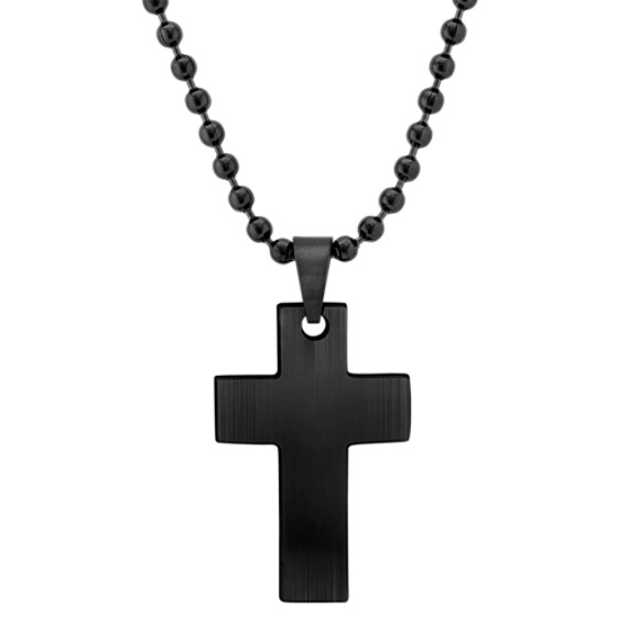 "Stainless Steel Cross Necklace (24"")"