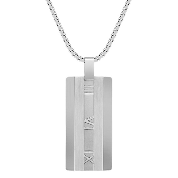 Stainless Steel Roman Numeral Necklace (24)