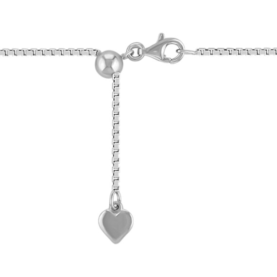 "Sterling Silver Adjustable Box Chain (20"")"
