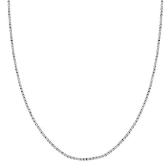 "Sterling Silver Box Chain (20"")"